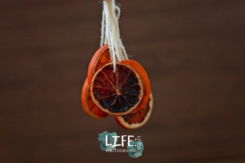 dried orange decorations