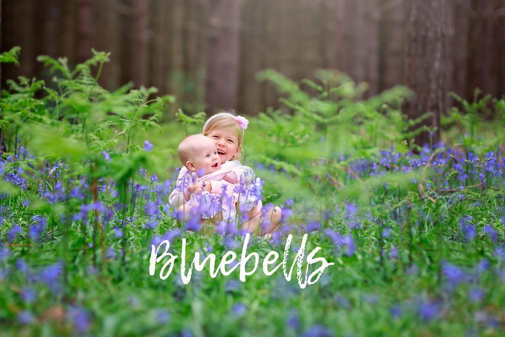 children in bluebells